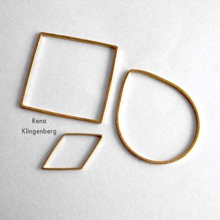 Escolhendo conectores de joias para o design de um brinco - Brincos de argola e argolas - Tutorial de Rena Klingenberg