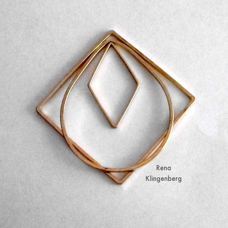 Playing with design for Loops & Hoops Earrings - Tutorial by Rena Klingenberg