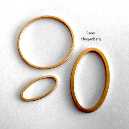 Componentes para brincos de argola e argolas - Tutorial de Rena Klingenberg