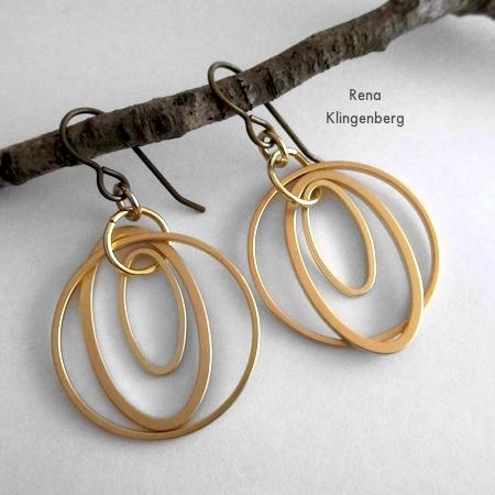 Loops & Hoops Earrings - Tutorial de Rena Klingenberg