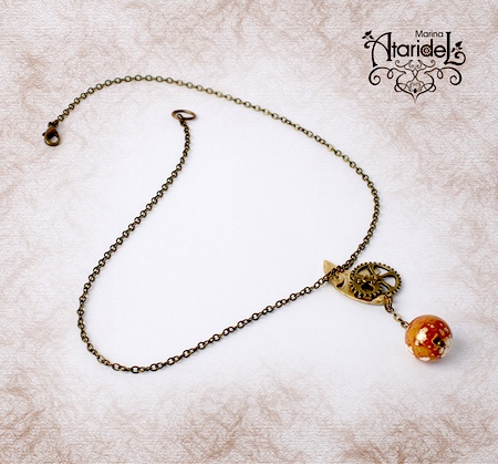 Marina - Dragons of Artificial Moon Pendant  - featured on Jewelry Making Journal