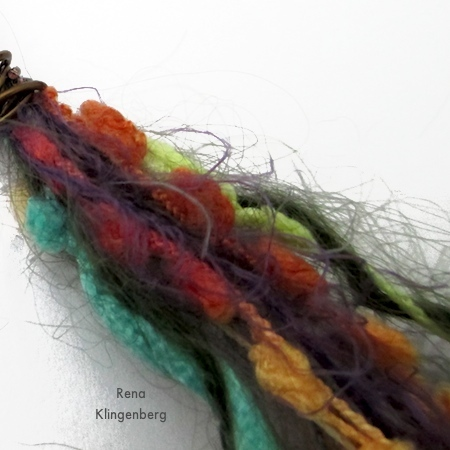 Art fiber for Mixed Media Gypsy Necklace - Tutorial by Rena Klingenberg
