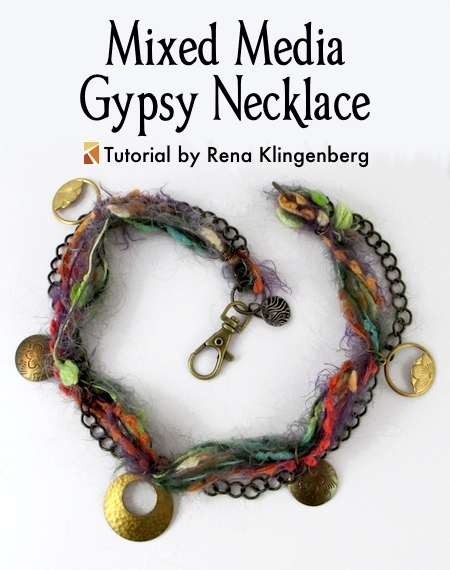 Mixed Media Gypsy Necklace - Tutorial by Rena Klingenberg
