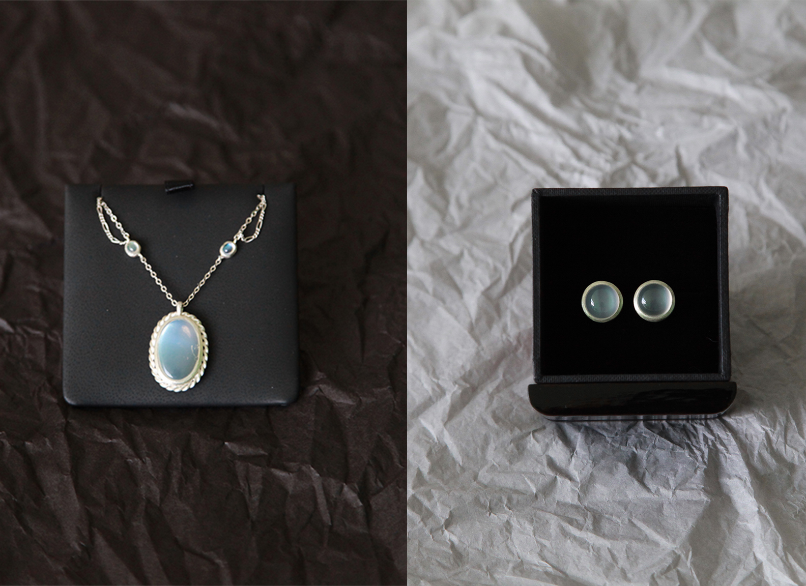 Moonstone Jewelry Sets — designed in my dream
