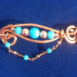Native American Sleeping Beauty Turquoise Shawl Pin, Scarf Pin