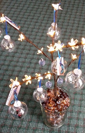 Earrings Gift Packaged Inside an Ornament - by Linda Finnie  - featured on Jewelry Making Journal