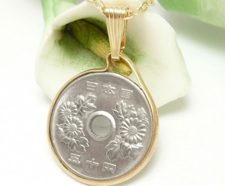 Japanese Coin Jewelry by Diane Schamp  - featured on Jewelry Making Journal