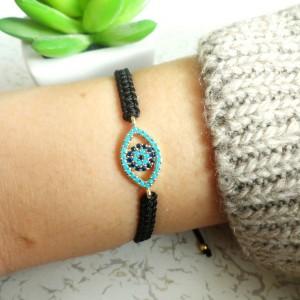 Evil Eye Macrame Bracelets