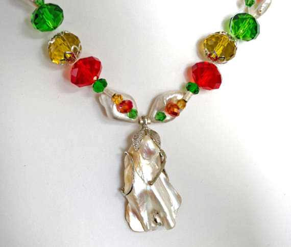 Christmas Jewelry in Red, Green, Gold and Pearl