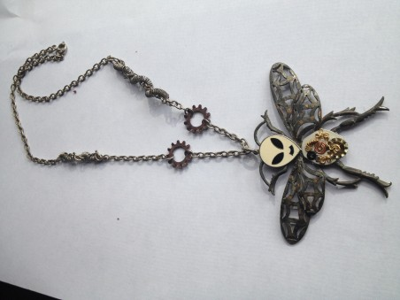 Steampunk Alien Bug Man by Carol Wofford  - featured on Jewelry Making Journal