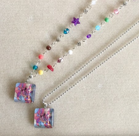 Grandmother & granddaughter necklaces by Sheila Meador  - featured on Jewelry Making Journal