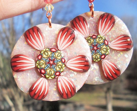 Starflowers Earrings by Jackie Locantore  - featured on Jewelry Making Journal