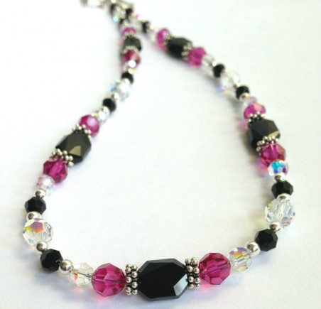 Swarovski Crystal Necklace by Tracey  - featured on Jewelry Making Journal