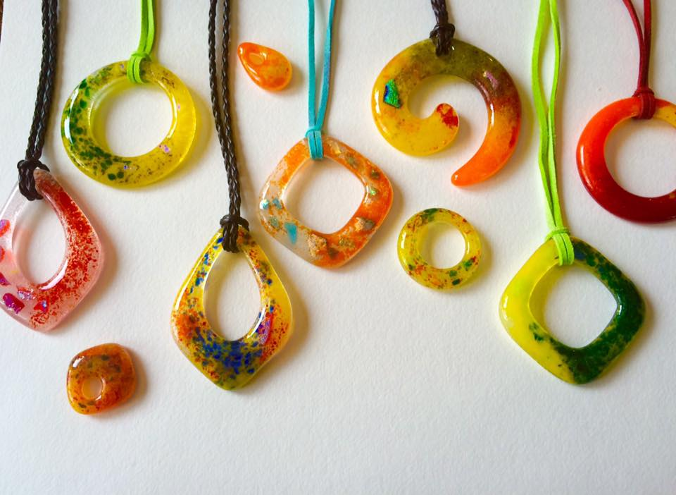 Fused Glass Pendants