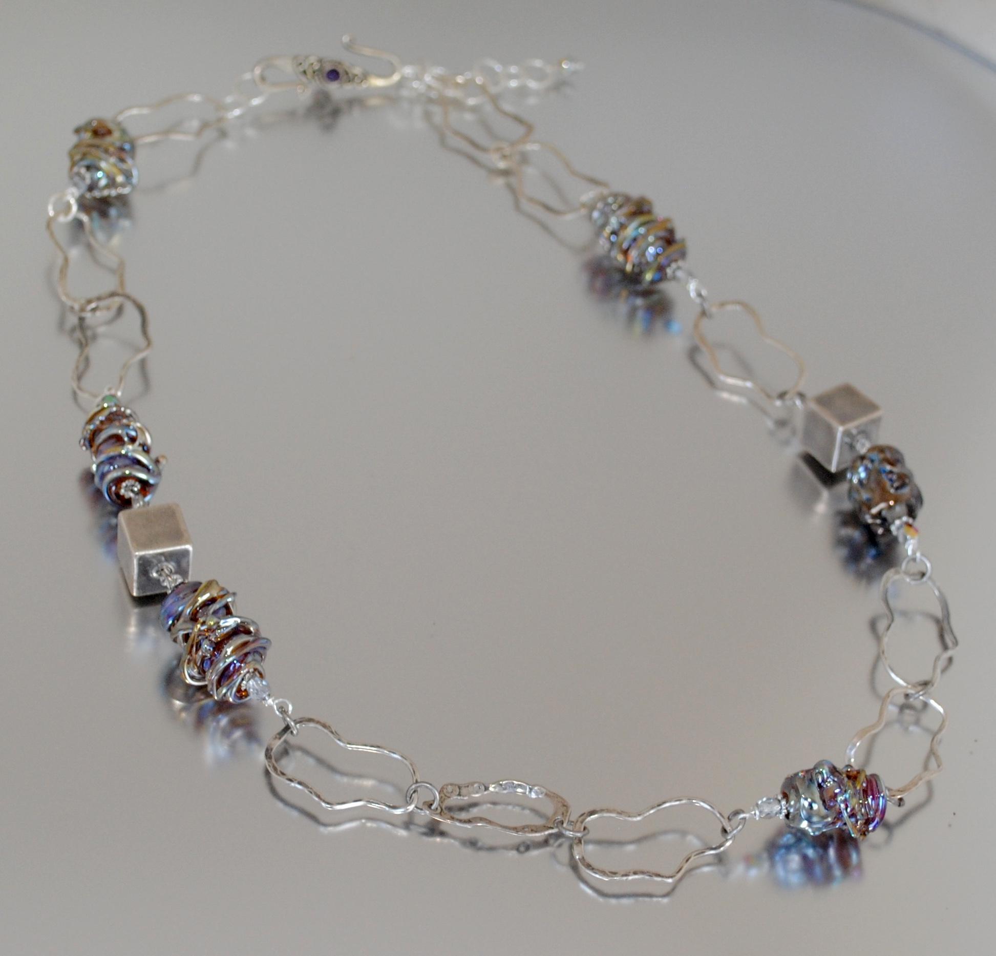 Aurae Handmade Glass Bead Necklace