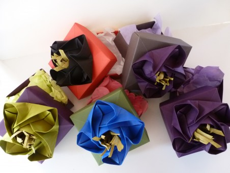 Origami Rose Boxes for Jewelry by Dana Smith -  - featured on Jewelry Making Journal