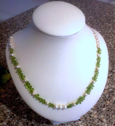 Pearls and Peridot