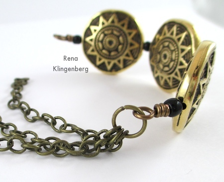 Assembling Beads and Chains Bracelet - Tutorial by Rena Klingenberg