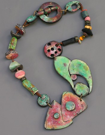 Rusty Garage Necklace by Terri Wlaschin  - featured on Jewelry Making Journal