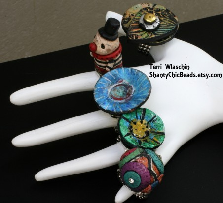 Snap-on Rings by Terri Wlaschin  - featured on Jewelry Making Journal