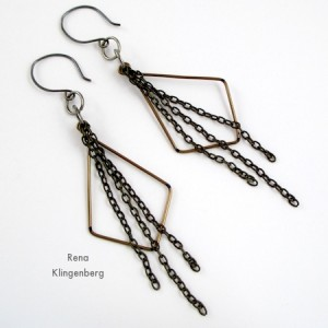 Hoops & Chains Earrings (Tutorial)