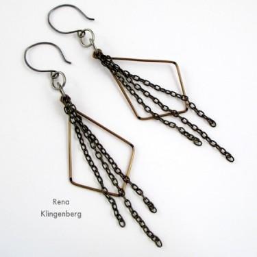 Hoops & Chains Earrings (Tutorial)