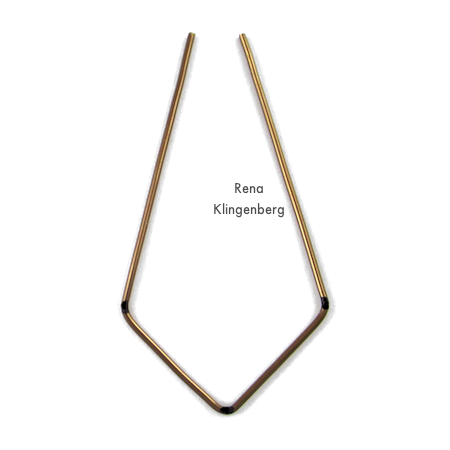 Shaping wire for Hoops and Chains Earrings - Tutorial by Rena Klingenberg