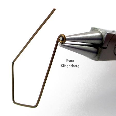 Making wire loop ends for Hoops and Chains Earrings - Tutorial by Rena Klingenberg