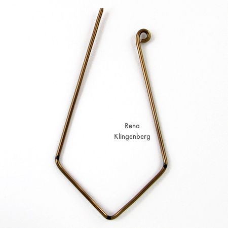 Making wire loop ends for Hoops and Chains Earrings - Tutorial by Rena Klingenberg