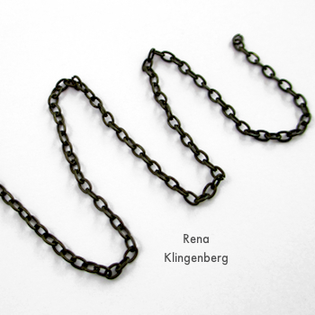 Chain for Hoops and Chains Earrings - Tutorial by Rena Klingenberg