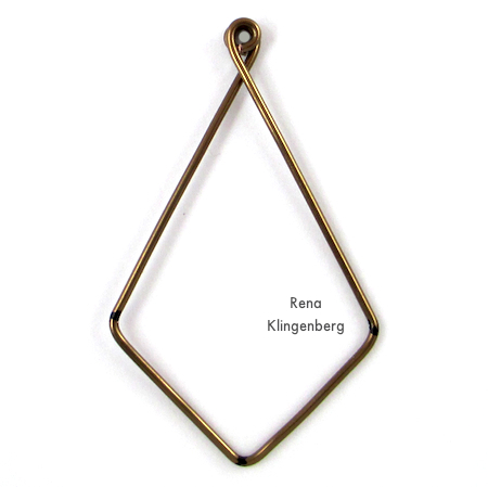 Finished wire hoop for Hoops and Chains Earrings - Tutorial by Rena Klingenberg
