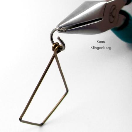 Assembling Hoops and Chains Earrings - Tutorial by Rena Klingenberg