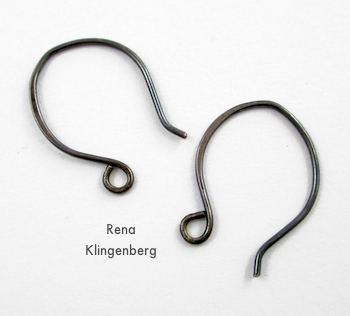 Earwires for Hoops and Chains Earrings - Tutorial by Rena Klingenberg
