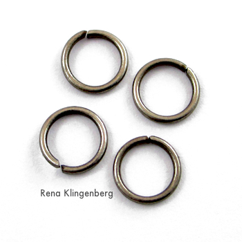 Jump rings for Hoops and Chains Earrings - Tutorial by Rena Klingenberg
