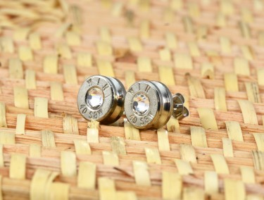 Bullet Earrings with Crystals