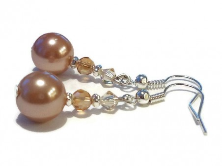 Pearlized Wedding Earrings by Missy Rogers  - featured on Jewelry Making Journal
