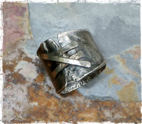 """Shattered"" Ring by Janice Root  - featured on Jewelry Making Journal"