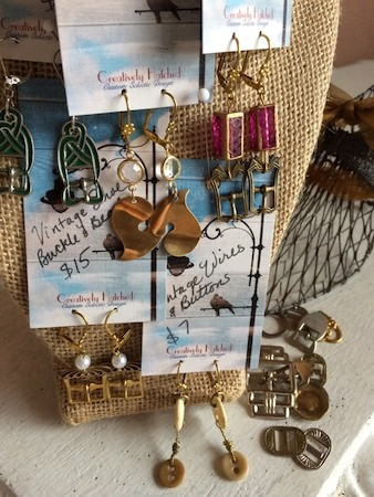 Earrings of all shapes and colors by Teri Griffith  - featured on Jewelry Making Journal