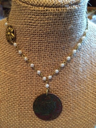 Old Token with a New Chain by Teri Griffith  - featured on Jewelry Making Journal