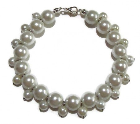 White Pearl Bracelet by Missy Rogers  - featured on Jewelry Making Journal