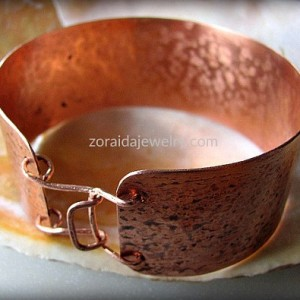 Men's Wide Rustic Copper Cuff