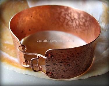 Men's Wide Rustic Copper Cuff