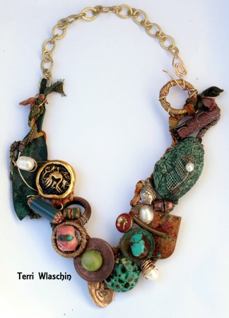 Bronze Age-Inspired Necklace by Terri Wlaschin  - featured on Jewelry Making Journal
