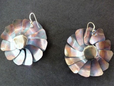 Back of Windmills Earrings by Dana C Smith  - featured on Jewelry Making Journal