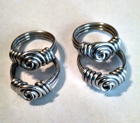 Wire Sculptured Rings by Boysie E. Brown  - featured on Jewelry Making Journal