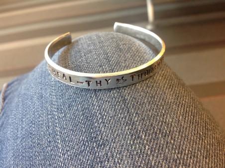 Aluminum bracelet by Dawn ferrara  - featured on Jewelry Making Journal