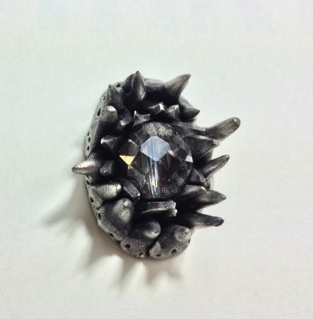Spikes Pendant by Glenda Munguia  - featured on Jewelry Making Journal