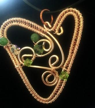 Wire Doodle Heart Pendant