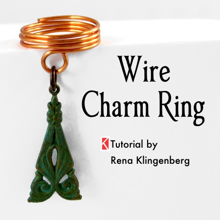 Wire Charm Ring - Tutorial by Rena Klingenberg