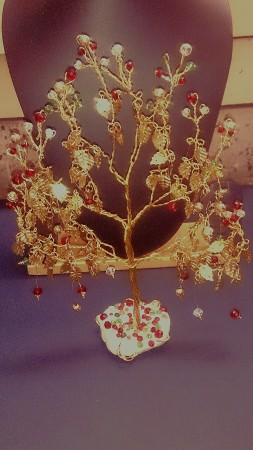Wire and Bead Fortune Tree by Rama K  - featured on Jewelry Making Journal